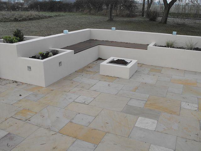 Rendered concrete raised beds garden life pinterest for Concrete raised garden bed designs