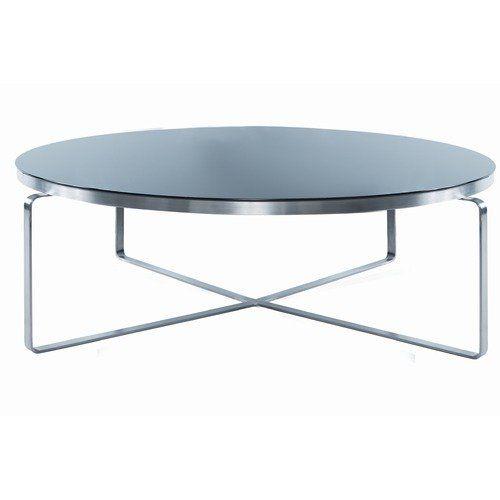 Hokku Designs Metro Round Glass Coffee Table