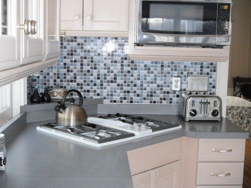 wallpaper back splash looks just like real tile home