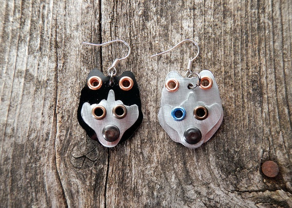Earrings Jewelry Siberian Husky Huskie Breed Pet by PoochTags, $15.00