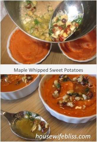 Maple Whipped Sweet Potatoes. Not normally a fan of sweet potatoes ...