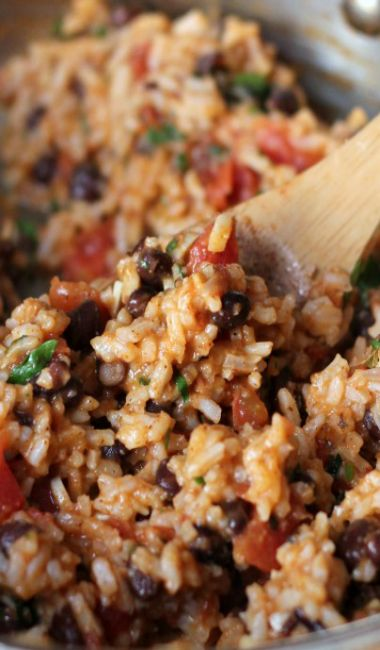 Mexican Tomato Rice and Beans   Awesome recipes   Pinterest