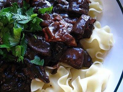 Vegetarian Mushroom Bourguignon | Recipe