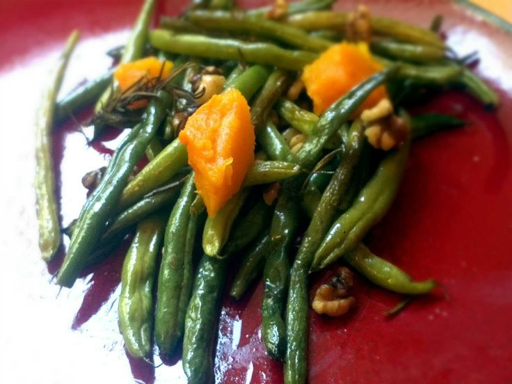 ... : Roasted Green Beans with Butternut Squash, Rosemary and Walnuts