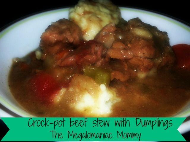 Crock-Pot Beef Stew with Dumplings | Food: Soups | Pinterest