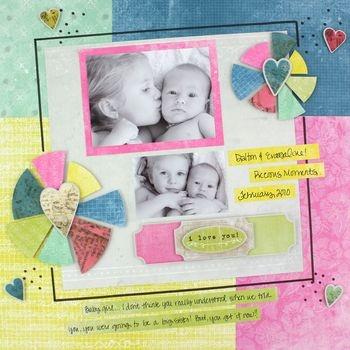 Scrapbook layout idea using @NancyODell's new Creative Memories LOVE line.