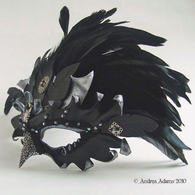 Jeweled Leather Raven ...