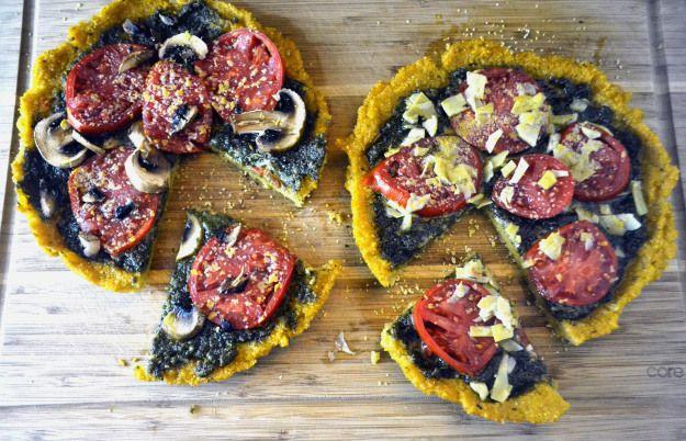polenta pizza } | FOOD | Pinterest