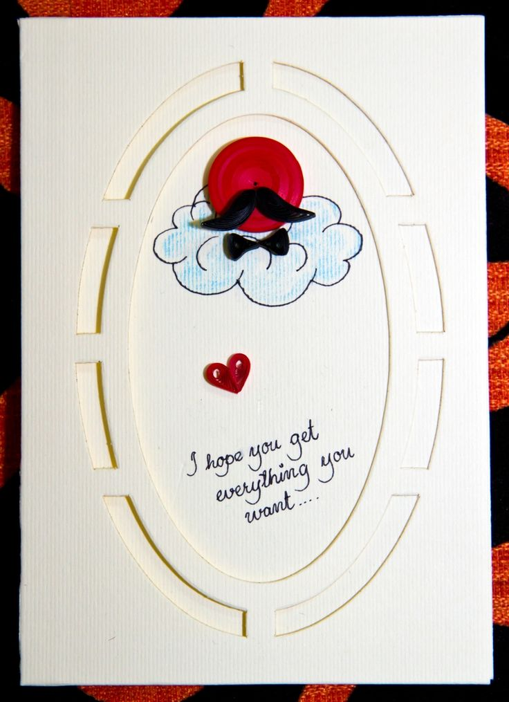 Greeting card for men | quilling | Pinterest