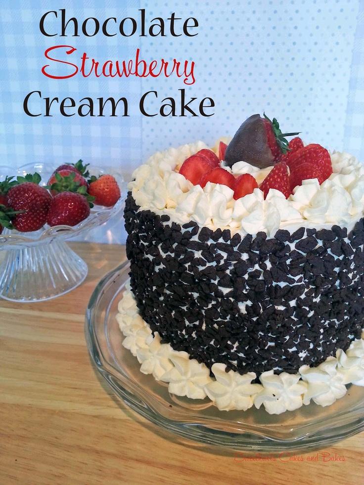 Chocolate Strawberry fresh cream cake   SweetHarts Cakes and Bakes ...