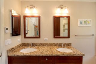 Double vanity separate mirrors or maybe medicine cabinet mirrors