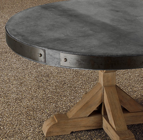 60 Concrete Teak Round Dining Table Very Handsome