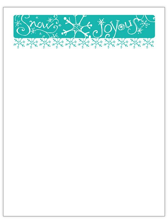 Free Christmas letter designs to print at home