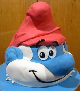 http://thepartyanimal.hubpages.com/hub/Smurf-Birthday-Cake-and-Cupcake-Ideas
