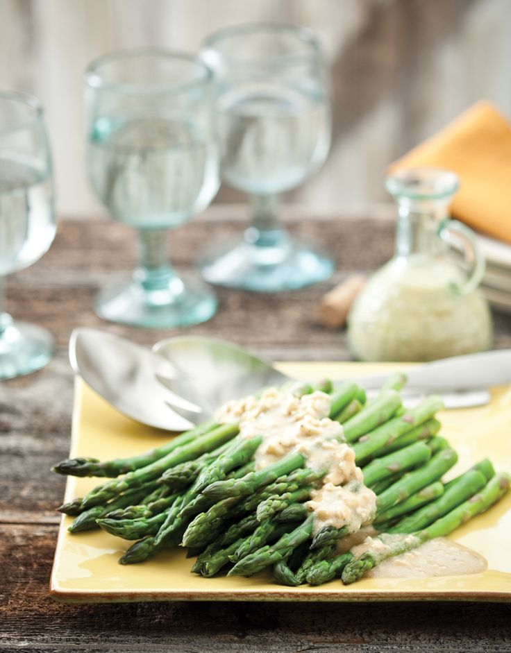 Asparagus with Feta Vinaigrette | Recipe