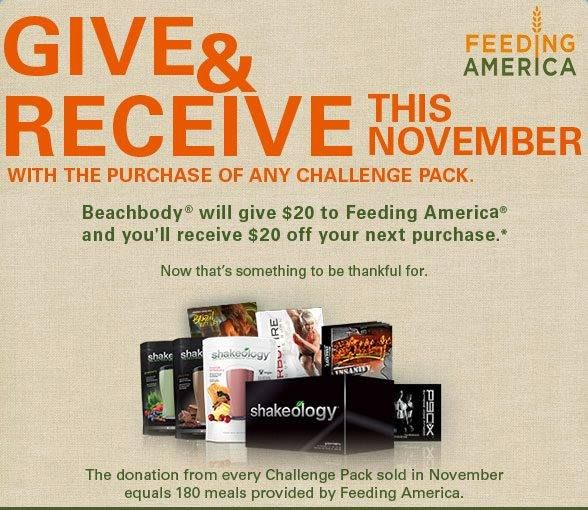 Beachbody is proud to partner with Feeding America™, the nation's ...