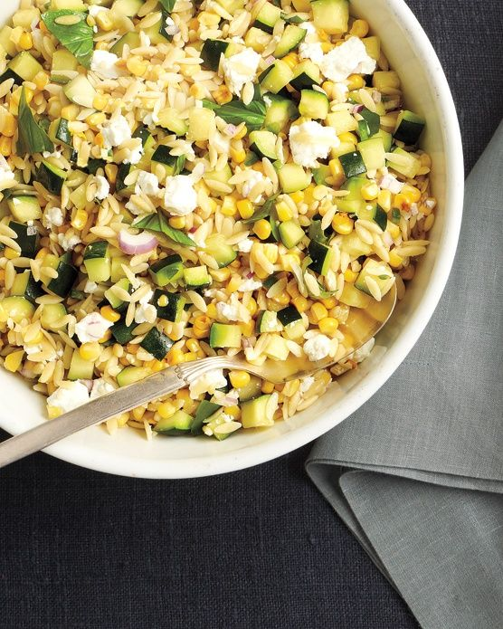 Corn and Zucchini Orzo Salad | Sides | Pinterest