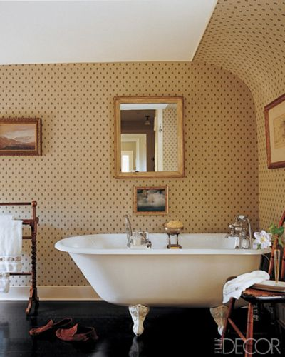 bathroom wallpaper ideas wallpaper for bathrooms elle decor