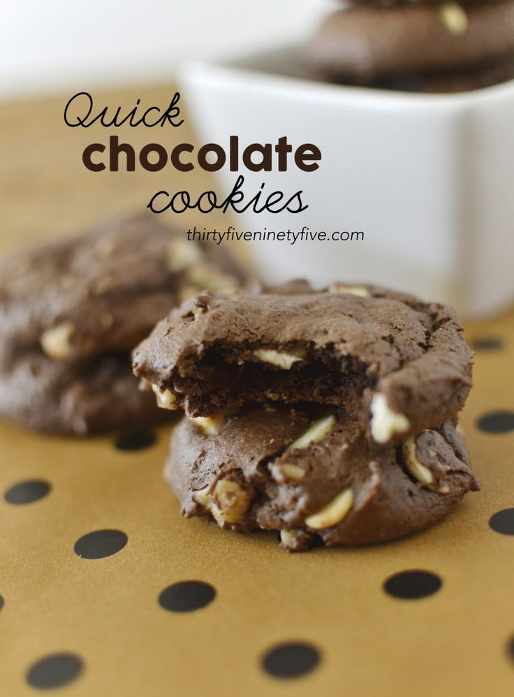 Quick Chocolate Cookies | 3595 | Cookies | Pinterest