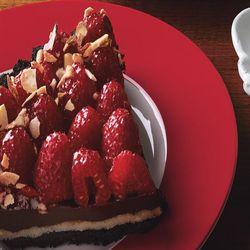 Chocolate, Almond, And Raspberry Tart | Sweet tooth | Pinterest
