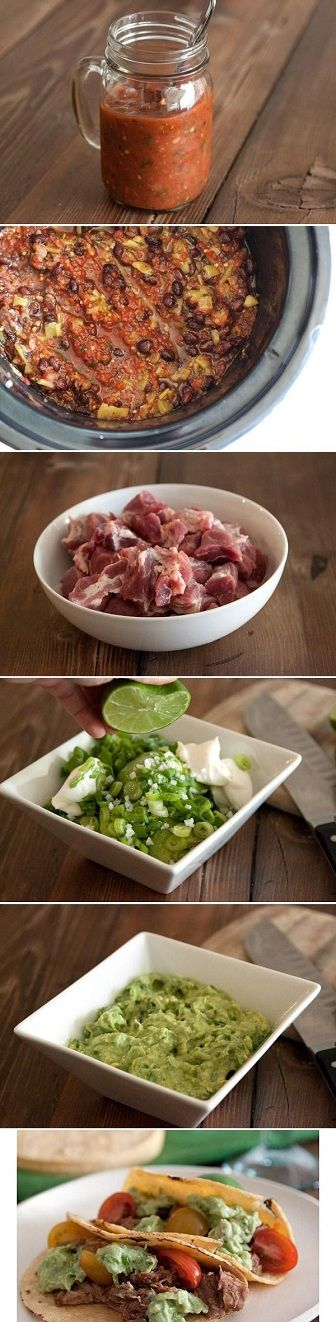 Pulled Pork Tacos with Avocado Cream Sauce Recipe... WOW, These Tacos ...