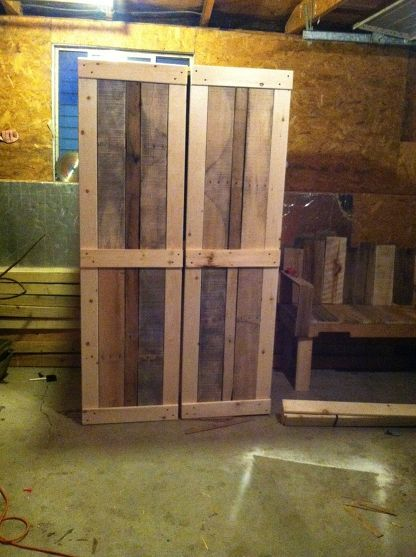 Scrap book cabinet made pallets and other wood - Cupboards made from pallets ...