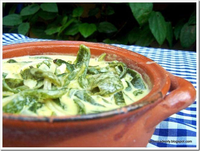 Roasted Poblanos In Cream Sauce (Rajas Con Crema) Recipes — Dishmaps