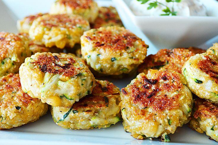 Zucchini Corn Cakes {Vegan} | Kiss the Cook | Pinterest