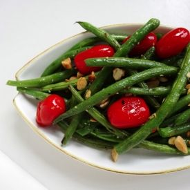 Green Beans with Blistered Tomatoes and Almonds