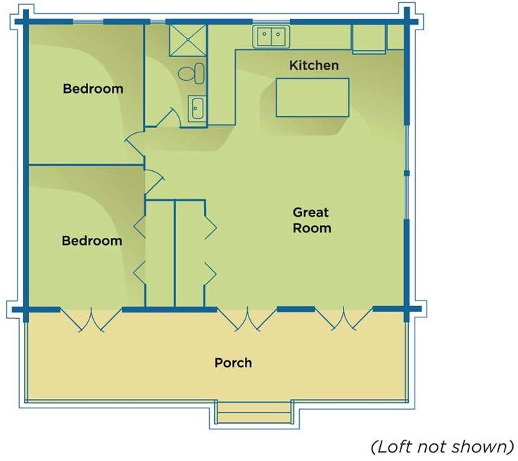 Basic cabin floor plan out buildings pinterest for Basic cabin plans