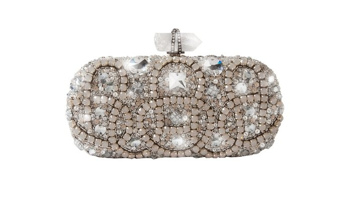 Marchesa Opal Embroidered Clutch  By Marchesa
