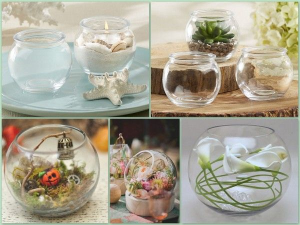 Bubble Shaped Glass Terrarium Bowl
