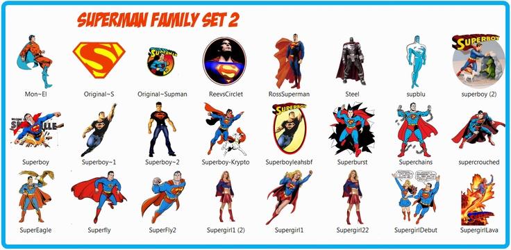 Superman Family set 2.... Facebook Like Icons