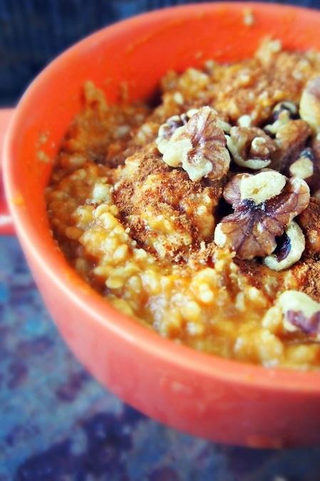 pumpkin pie oatmeal | Baking/Cooking Ideas | Pinterest