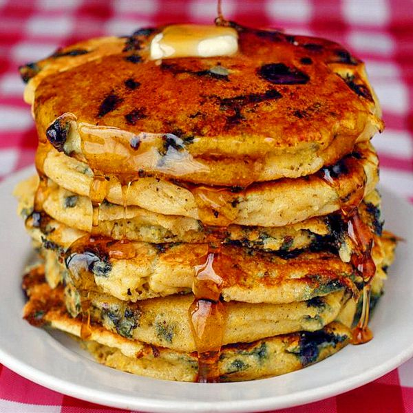 Blueberry Lemon Cornmeal Pancakes | recipes and ideas | Pinterest