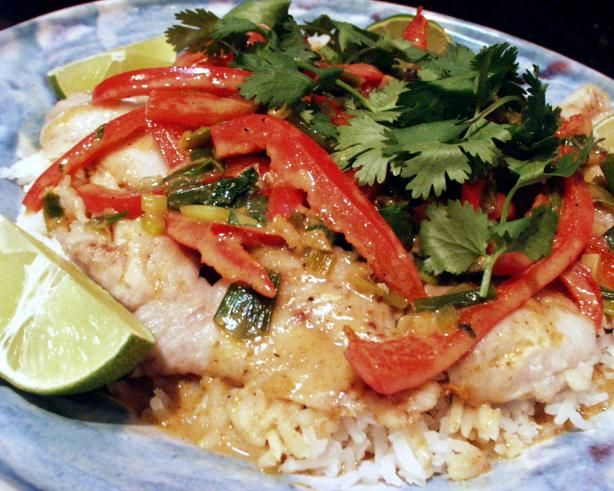 Broiled Tilapia With Thai Coconut- Curry Sauce Recipe - Food.com ...
