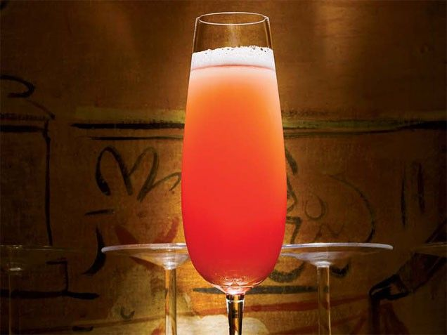 Passion Royale: 1/4 ounce X-Rated passion fruit-infused vodka, 1/2 ...