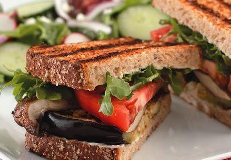 Grilled Eggplant & Portobello Sandwich | Recipe