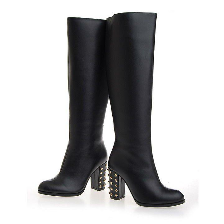 Model Flat Black Boots For Women Womensblackflatleather