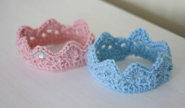 Crochet Newborn Crown : : Newborn Crown pattern by Kim Morrow #knit because what newborn ...