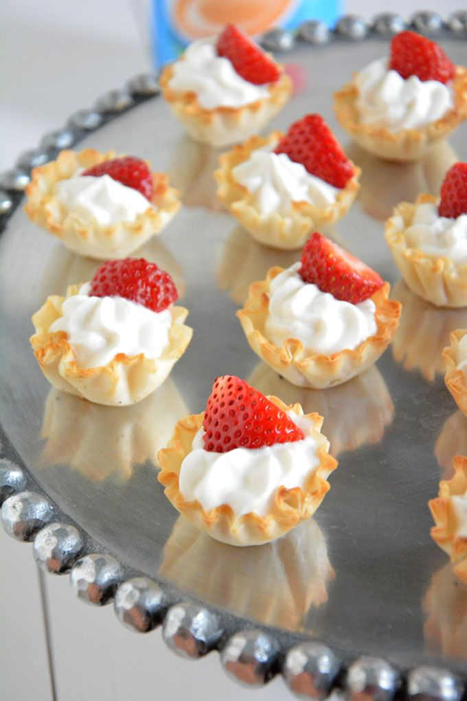 Ingredient} Strawberries and Cream Tarts | A guilt free, no bake ...