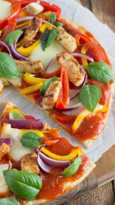 Basil and Mozzarella Chicken Veggie Pizza   Recipe