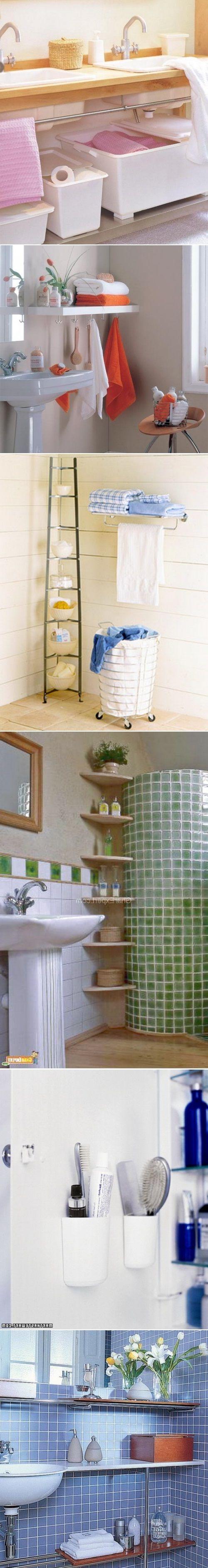 diy small bathroom storage ideas home pinterest