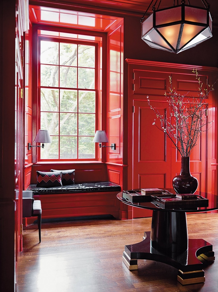 Red Lacquered Walls Lacquer Everything Pinterest