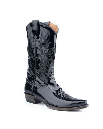 black patent leather cowboy boots my style