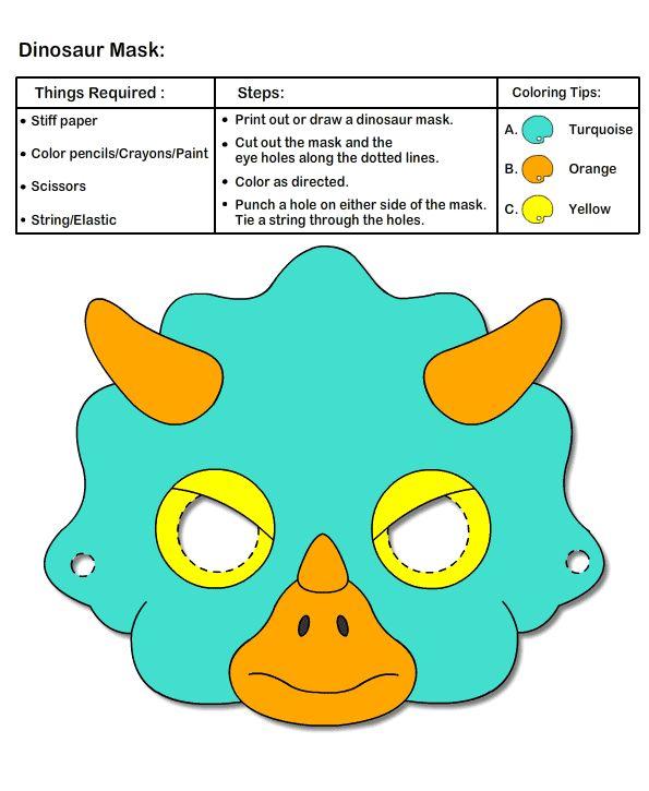 Как сделать маску динозавр 547