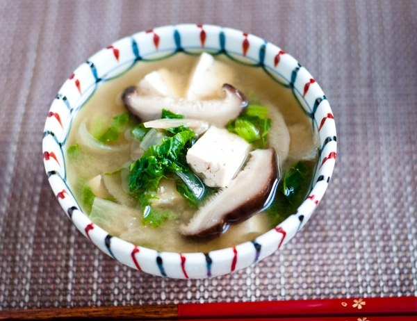 ... Miso Soup (dried daikon, dried shiitake, kale, tofu, barley miso and