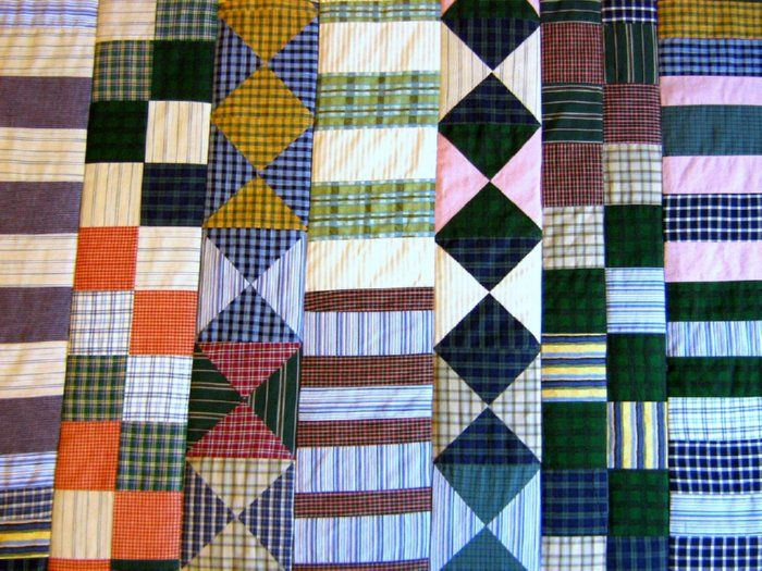 old clothes quilt Crafty-Quilting Pinterest