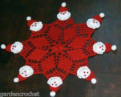 how to crochet crochet christmas doily