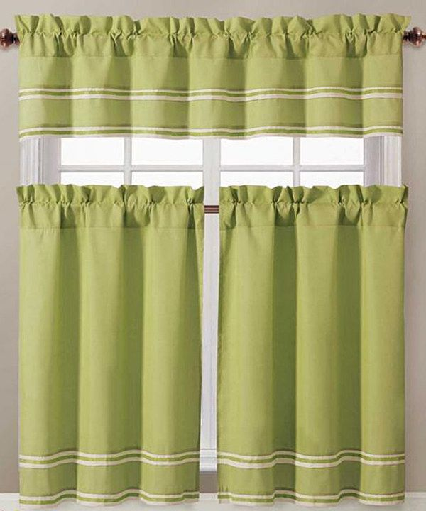 Look at this Tatiana Kitchen Curtain - Set of Two on #zulily today!